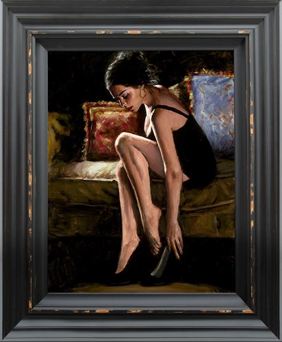 Image: Blue and Red III by Fabian Perez | Hand Finished Limited Edition on Canvas